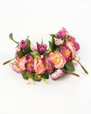 couronne de fleurs mariage roses violet rose