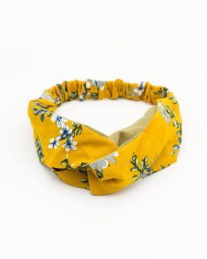 bandeau tête jaune végétal