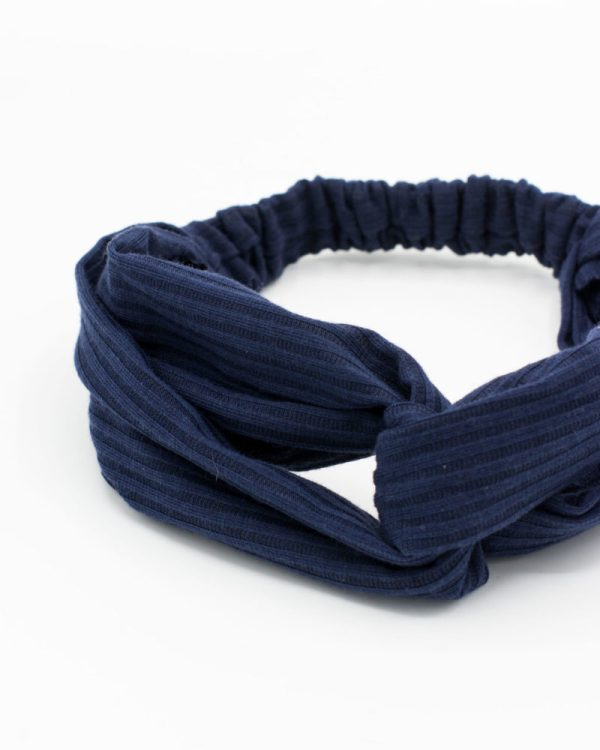 Headband bleu marine uni
