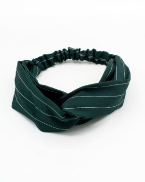 headband femme vert à rayures