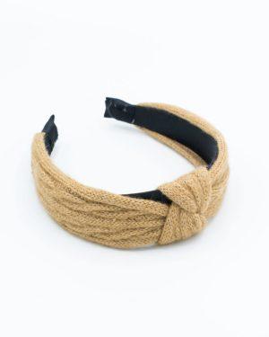 Serre tête femme à tricot paille