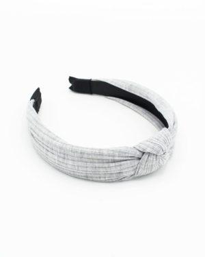Serre tête pour femme en tissu gris