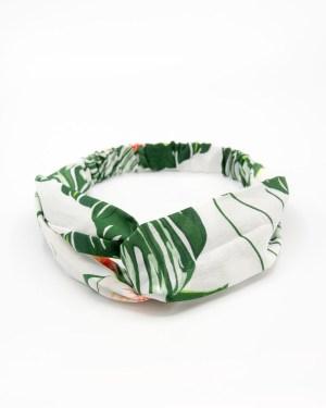 Bandeau cheveux femme blanc tropical