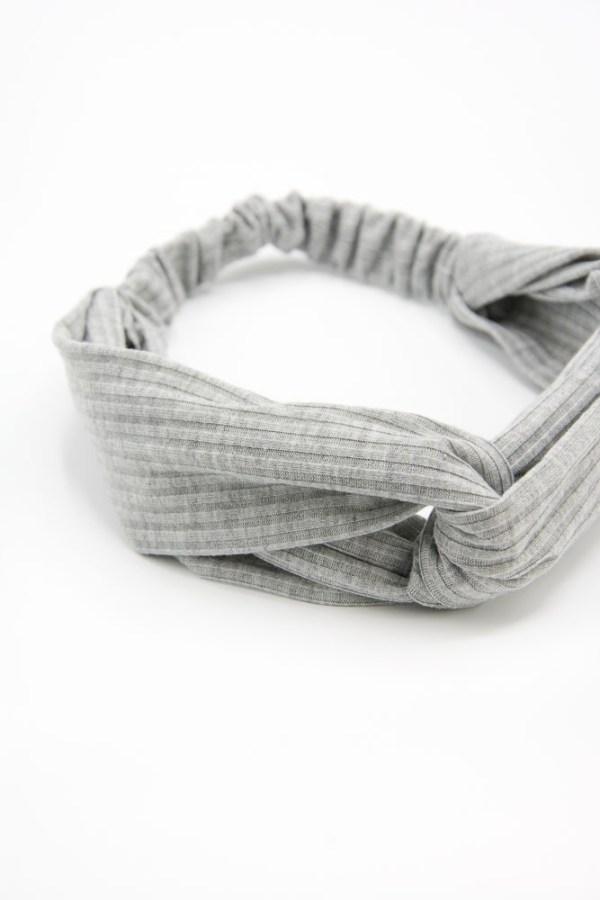 bandeau cheveux femme gris clair