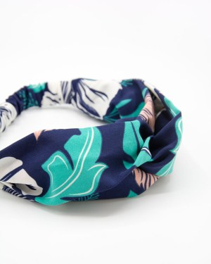 hedband cheveux femme imprimé dessin tropical