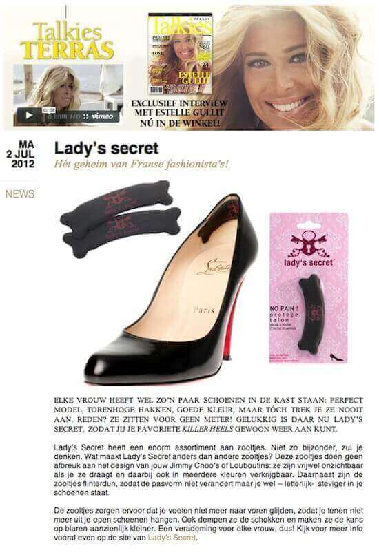 Lady's Secret inlegzolen talkies