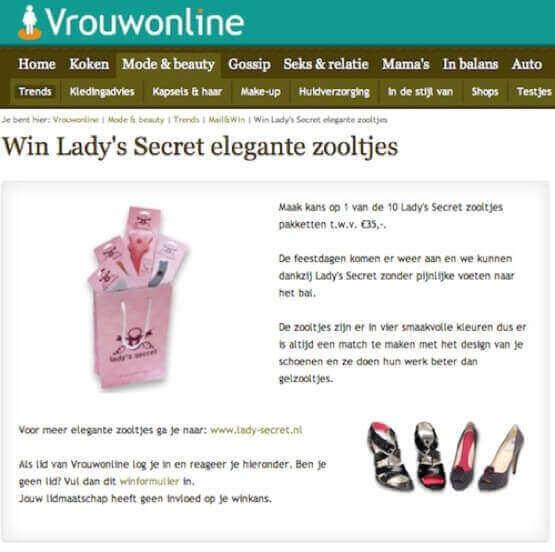 Lady's Secret inlegzolen vrouwonline