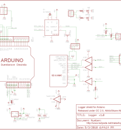 data logger shield for arduino rh ladyada net arduino uno shield schematic eagle arduino uno cnc shield schematic [ 1480 x 1104 Pixel ]