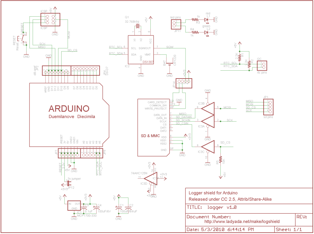 medium resolution of data logger shield for arduino rh ladyada net arduino uno shield schematic eagle arduino uno cnc shield schematic