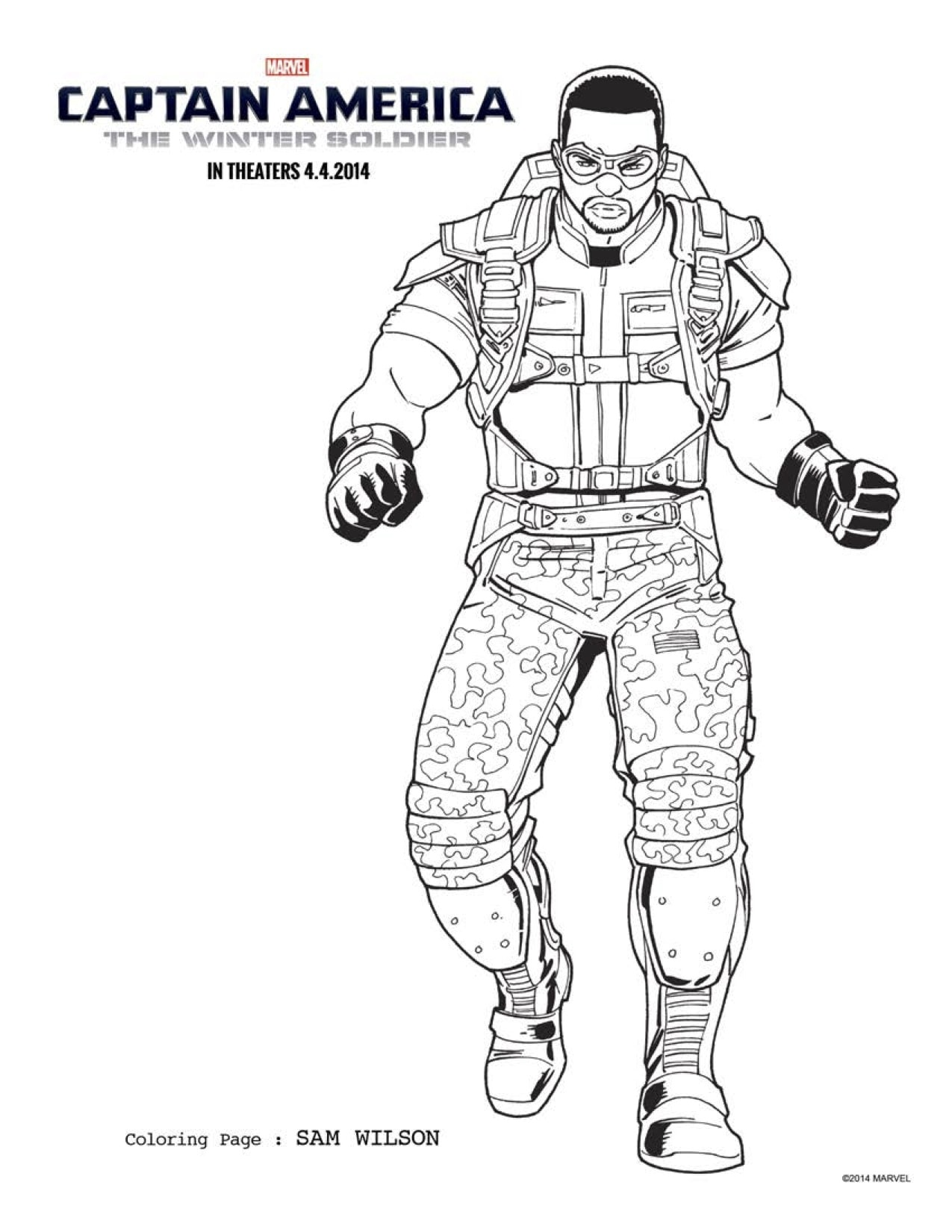 FREE Captain America 2 Coloring Pages: Download Printables