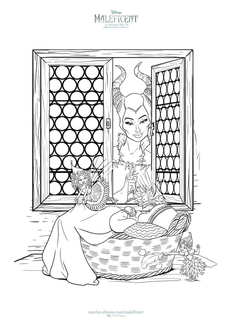 New MALEFICENT Printables And Coloring Sheets From Disney
