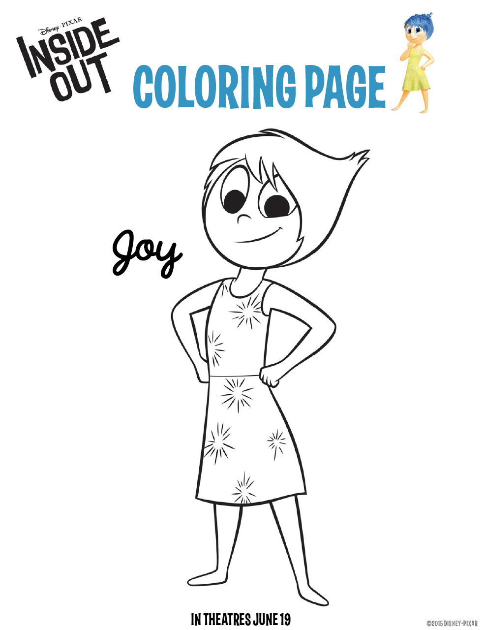 Inside Out Coloring Pages: Free Downloads For Kids #