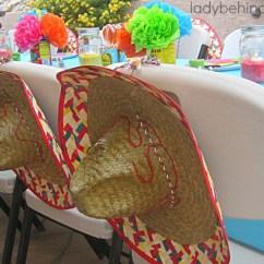 Wedding Chair Back Decorations Accent And Ottoman Set Fiesta Party