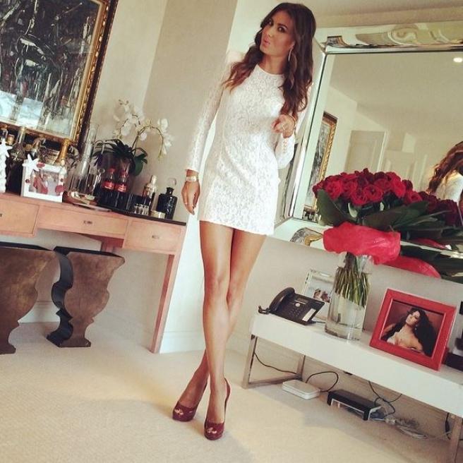 Belen Rodriguez Melissa Satta il selfie sbircia nelle