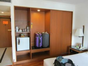 Narai Hotel view of the room other side with closet and mini fridge
