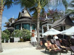 The Island Resort and Spa front of hotel right on the beach