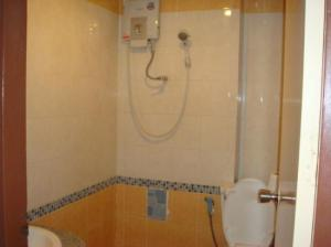 World Inn wet room toilet and shower