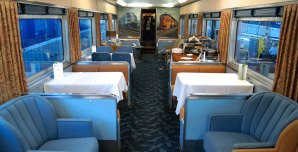 Overland Trail – 1949 Club Lounge train car with passenger lounge, bar, and barbershop | Photo credit: Courtesy of Union Station
