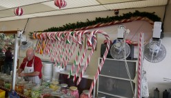 Check out the gigantic candy cane on the wall! | Photo credit: Krisa
