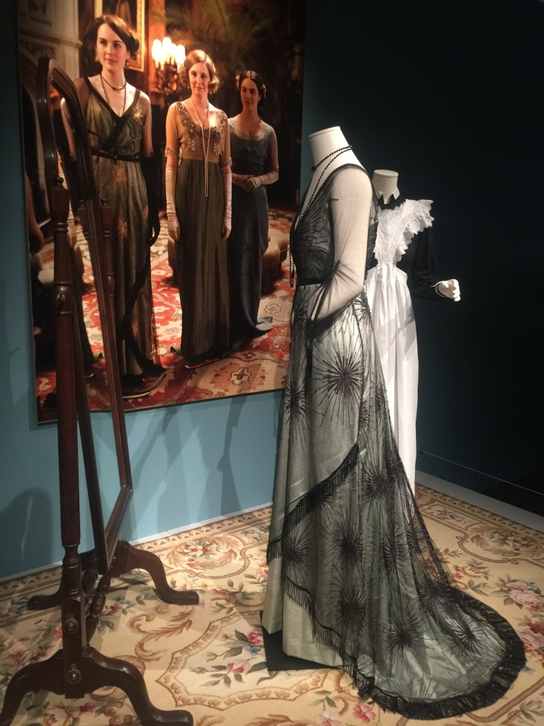 Gown from Dressing Downton exhibit at Lady by Choice blog