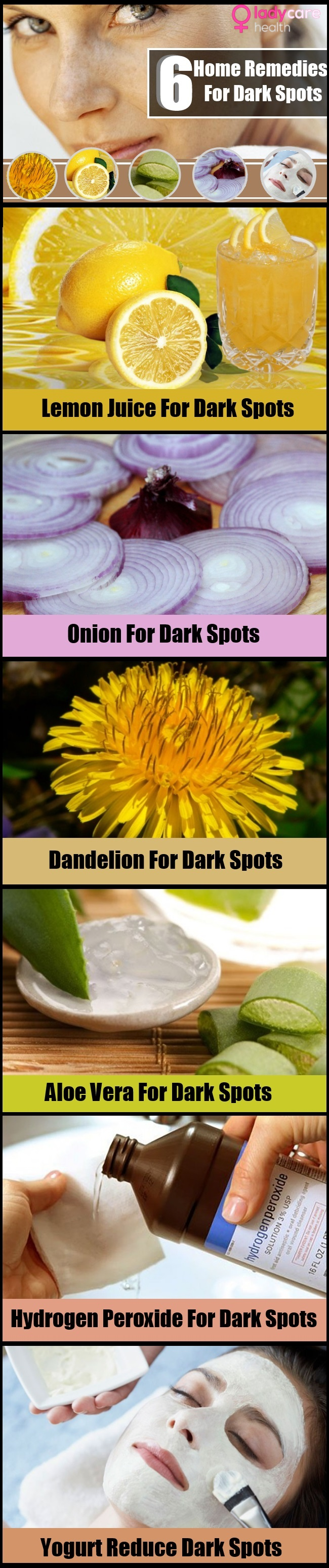 Home Remedies For Dark Spots On The Face