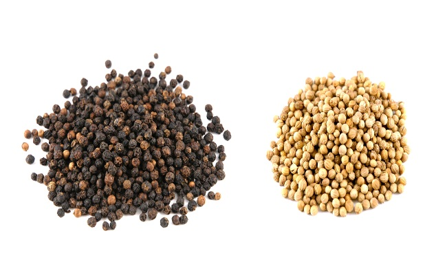Peppercorns & Coriander Seeds