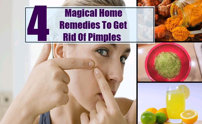 Home Remedies To Get Rid Of Pimples