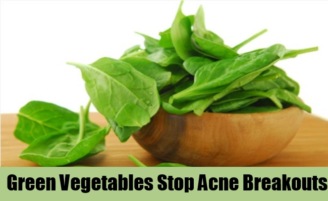 Green Vegetables Stop Acne Breakouts