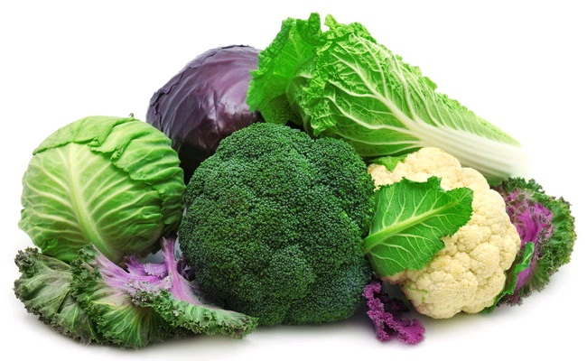Broccoli, Cabbage And Cauliflower