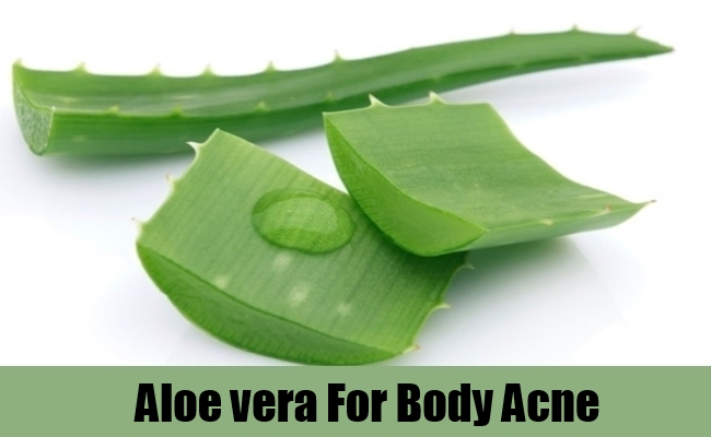 Aloe vera For Body Acne