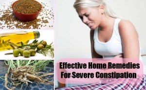 Effective Home Remedies For Severe Constipation