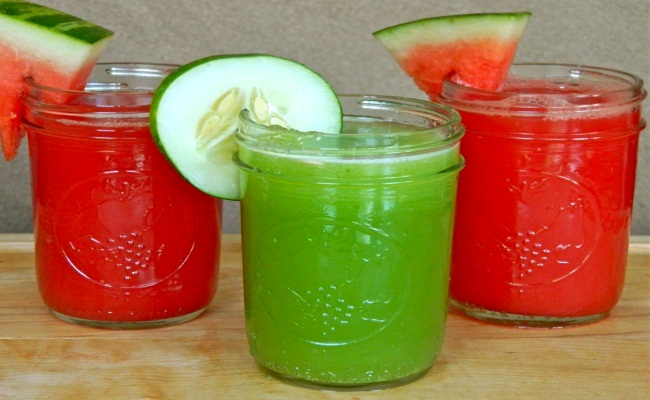 Cucumber And Watermelon Juice