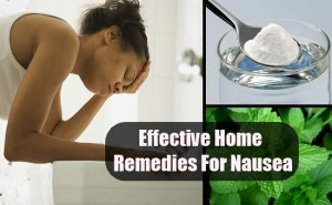 Effective Home Remedies For Nausea