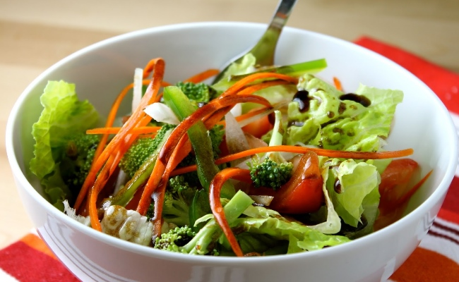 Raw Vegetable Salads And Onion