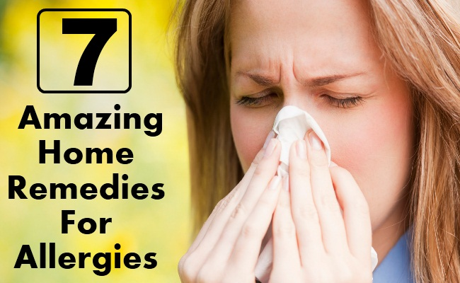 7 Amazing Home Remedies For Allergies