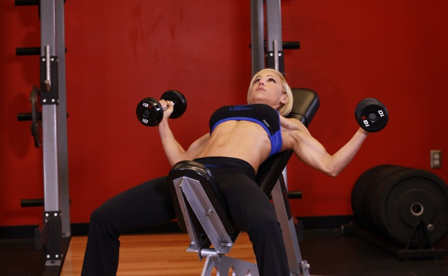 Incline Bench Press (4 SETS with 3 Reps each)