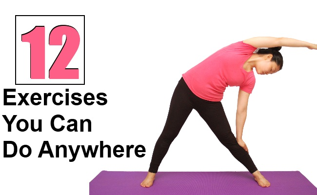 12 Top Exercises You Can Do Anywhere