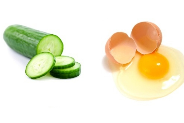 Utilize A Paste Made Of Cucumber And Egg Yolk