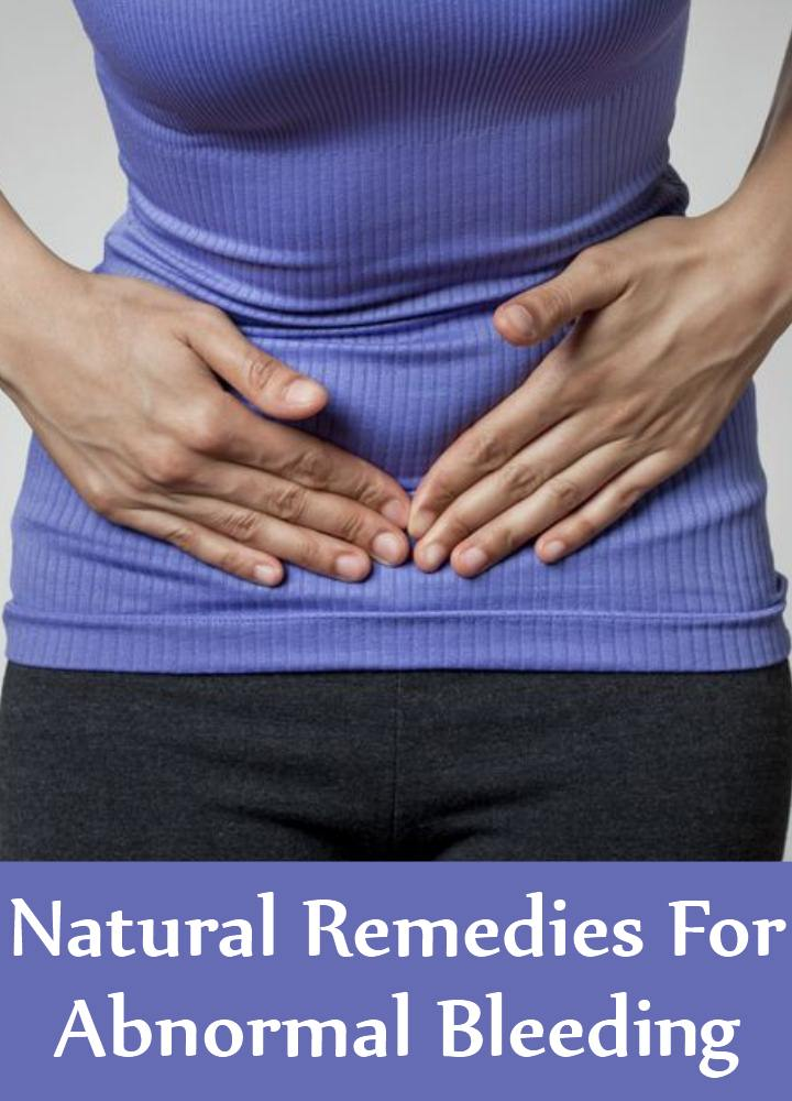 how to stop abnormal bleeding naturally