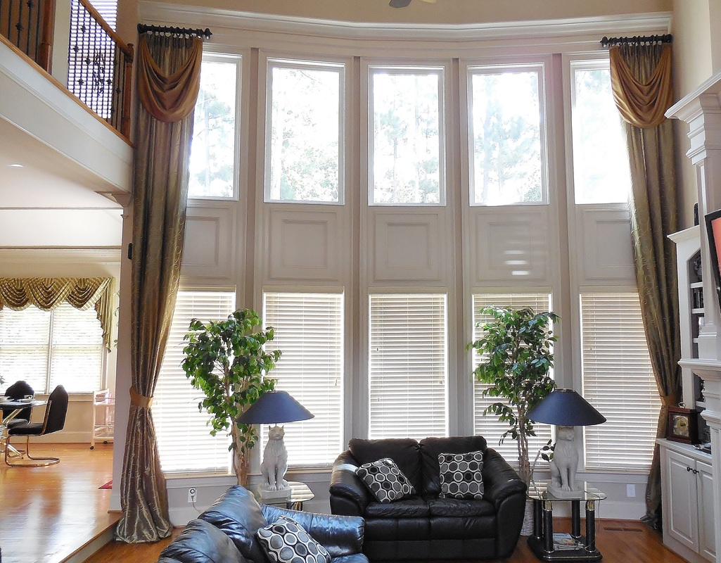 window treatments for two story windows