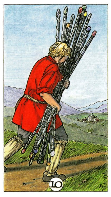 Relationship Energy – Tuesday, June 25, 2019 – 10 of Wands -Readings by Lady Dyanna