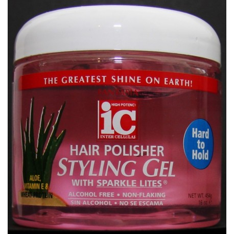 Fantasia IC Hair Polisher Styling Gel Hard To Hold Lady Edna