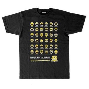 スーパー戦隊シリーズ40作品記念 歴代イエロー フェイスTシャツ