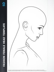 female hairstyle template 5d