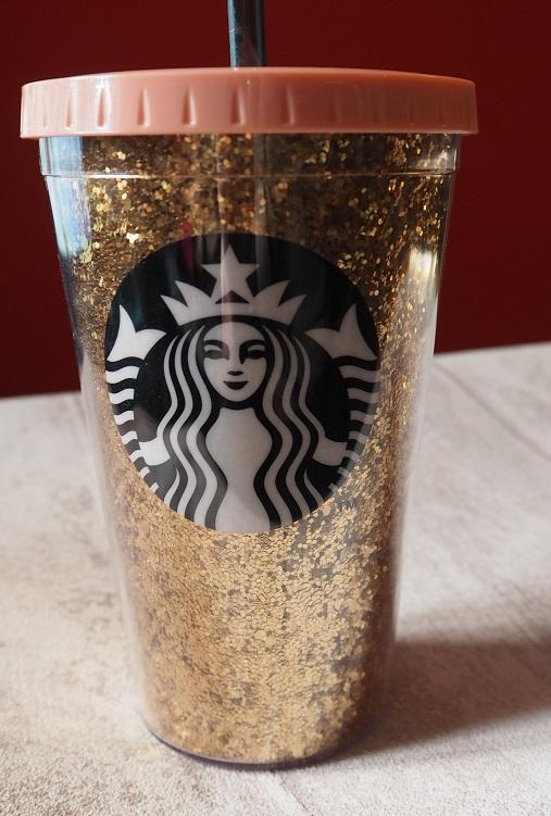Starbucks Gold Glitter Cold Cup  Lady From A Tramp