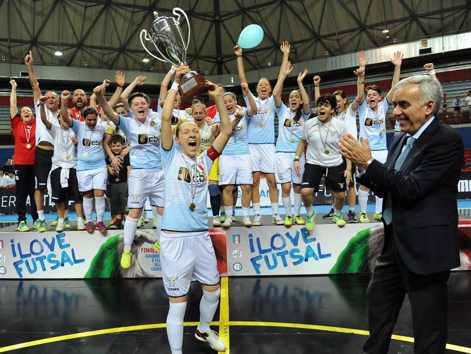 Juniores, Lazio Calcio a 5 campione d'Italia: 7-0 al Città di Falconara