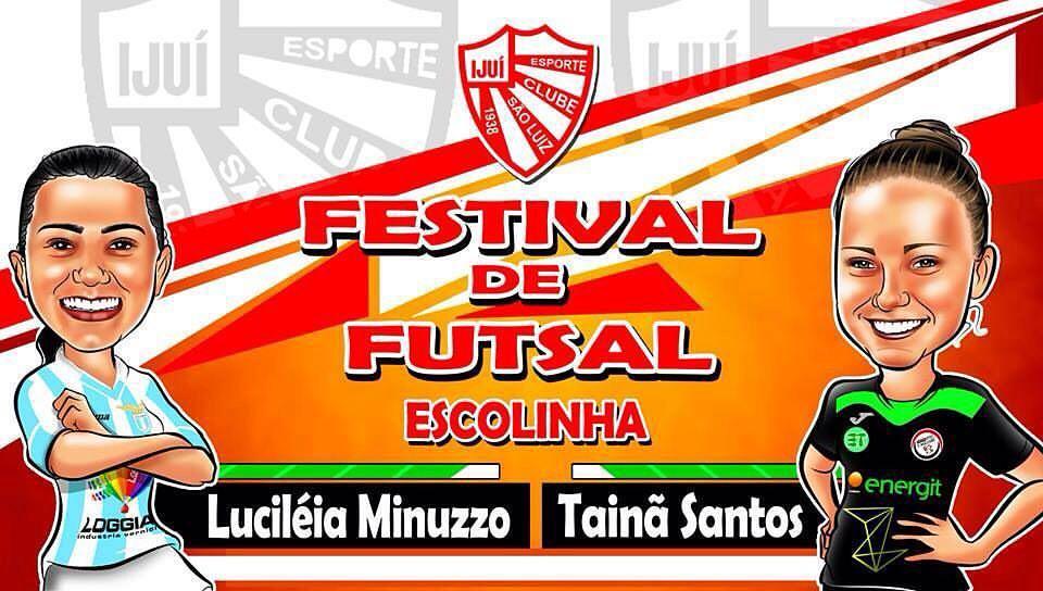 Tainã Santos e Luciléia promuovono il futsal a São Luís