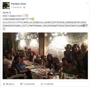 Pamela Cinti post fb promozione