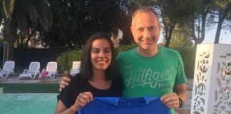Sofia Viera con mister Neri