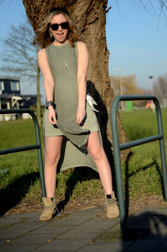Green Skaterdress, baby shark, Asos dress, Asos Outfit, Outfit inspiration 2015, Spring Summer trends 2015, Lady Goldapple